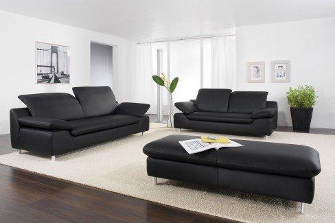willi schillig 10574 amore ledergarnitur schwarz m bel. Black Bedroom Furniture Sets. Home Design Ideas