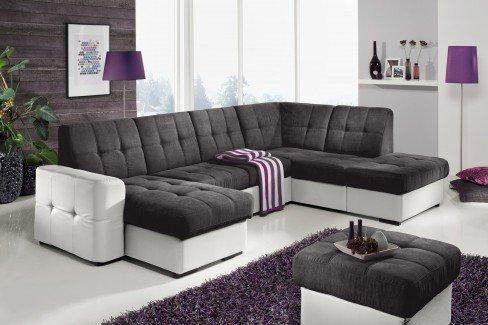 cotta track wohnlandschaft dunkelgrau wei m bel letz ihr online shop. Black Bedroom Furniture Sets. Home Design Ideas