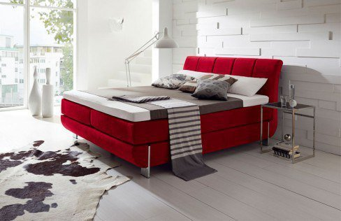 hapo schlafm bel ronda boxspringbett in rot m bel letz ihr online shop. Black Bedroom Furniture Sets. Home Design Ideas