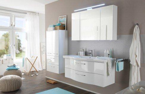 Solitaire 6005 von Pelipal - Waschtisch-Set in Weiß Hochglanz