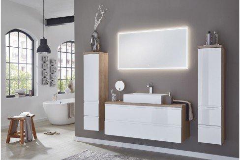 Variado 2.0 von puris - Badezimmer in Weiß Hochglanz/ Eiche sand