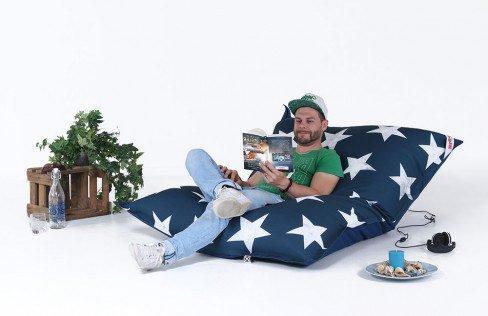 sitzsack bigbag stars blau mit sternen von magma heimtex m bel letz ihr online shop. Black Bedroom Furniture Sets. Home Design Ideas