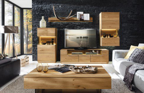 w stmann wohnwand casarano 3000 k4 wildeiche geb rstet m bel letz ihr online shop. Black Bedroom Furniture Sets. Home Design Ideas