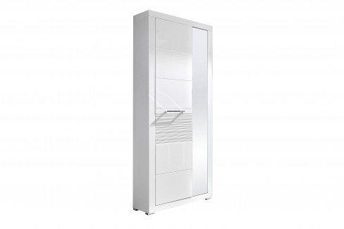 Life von Innostyle - Garderobe in Weiß mit geriffelter Absetzung