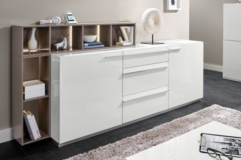 loddenkemper sideboard media 5000 wei m bel letz ihr online shop. Black Bedroom Furniture Sets. Home Design Ideas