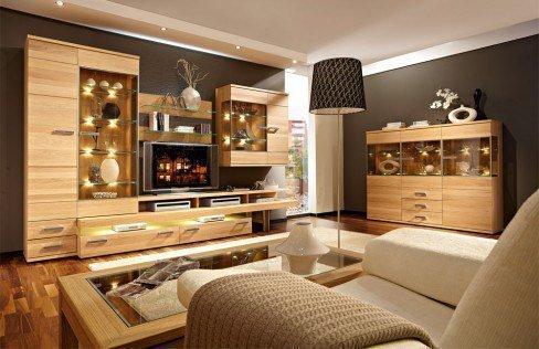 schr der m bel wohnwand cara v1 eiche m bel letz ihr online shop. Black Bedroom Furniture Sets. Home Design Ideas