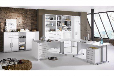 Büromöbel weiss hochglanz  Maja Büromöbel System Komplettset weiß | Möbel Letz - Ihr Online-Shop
