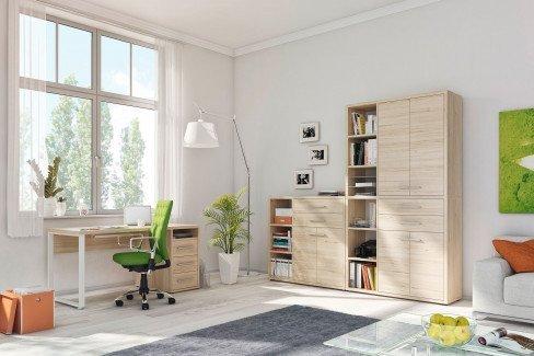 Set+ von Maja Möbel - Eckschreibtisch Eiche-weiß