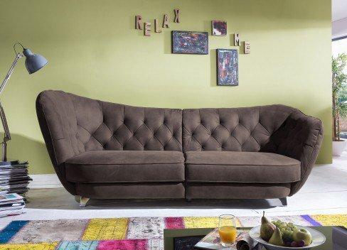 cotta retro megasofa in braun m bel letz ihr online shop. Black Bedroom Furniture Sets. Home Design Ideas