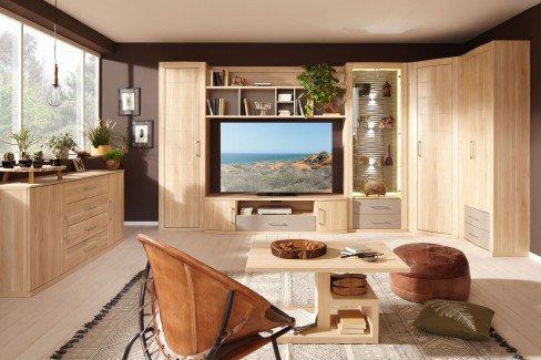 prenneis wohnwand mailand plus portos 3538 apfelbaum camel m bel letz ihr online shop. Black Bedroom Furniture Sets. Home Design Ideas