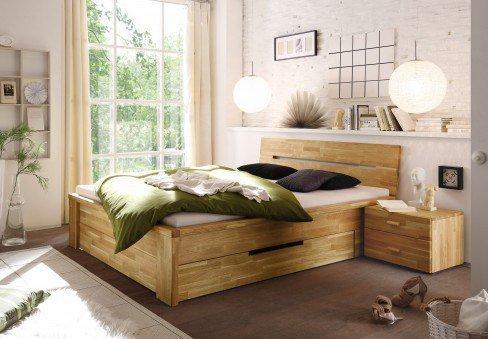 Cassetta von WOODLIVE - Bett mit Schubladen Kernbuche