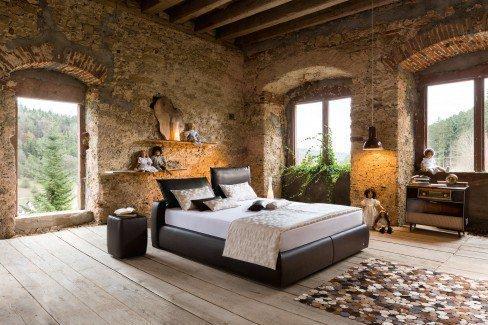 ruf primero boxspringbett dunkelbraun mit verstellbarem kopfteil m bel letz ihr online shop. Black Bedroom Furniture Sets. Home Design Ideas