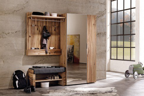 garderobe v alpin viento in altholz mit sitzbank von voglauer m bel letz ihr online shop. Black Bedroom Furniture Sets. Home Design Ideas