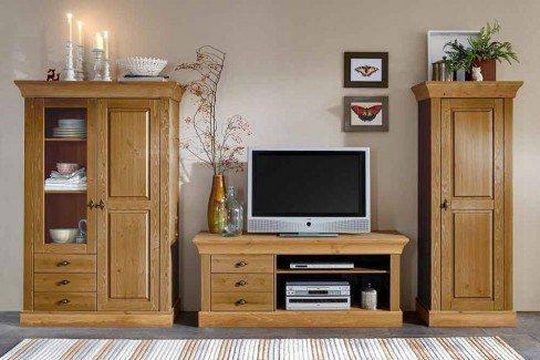 jumek wohnwand bergen kiefer m bel letz ihr online shop. Black Bedroom Furniture Sets. Home Design Ideas