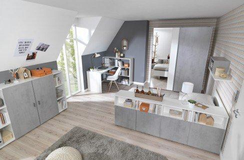 wellem bel concrete betonoptik jugendzimmer set m bel letz ihr online shop. Black Bedroom Furniture Sets. Home Design Ideas