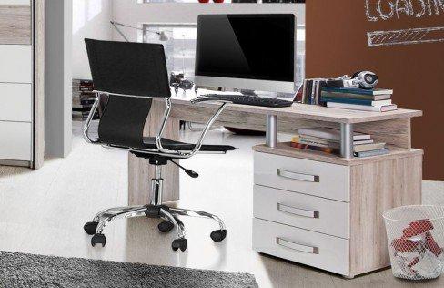 Rondino von Forte - Jugend-Schreibtisch Sandeiche - weiß
