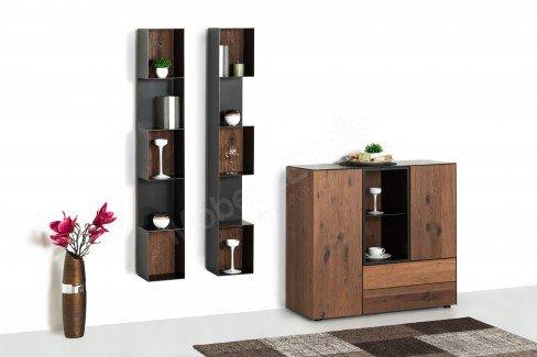w stmann highboard kombination nw 550 r uchereiche stahl. Black Bedroom Furniture Sets. Home Design Ideas