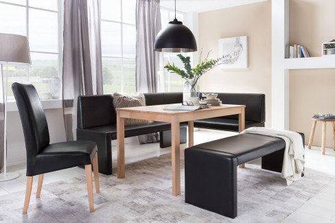 standard furniture eckbank berlin in kunstleder schwarz m bel letz ihr online shop. Black Bedroom Furniture Sets. Home Design Ideas