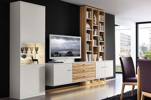 rietberger wohnwand cremona 21479 wei natur line kernbuche m bel letz ihr online shop. Black Bedroom Furniture Sets. Home Design Ideas