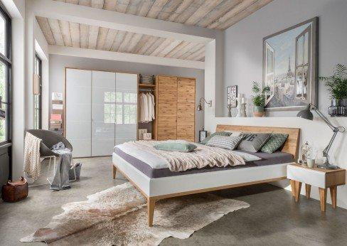 m h schlafzimmer set wildeiche wei glas m bel letz ihr online shop. Black Bedroom Furniture Sets. Home Design Ideas