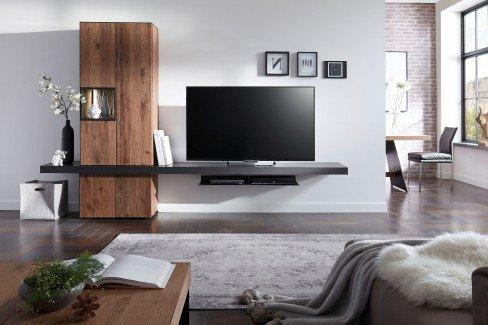 w stmann wohnwand nw 550 eiche ger uchert stahl m bel letz ihr online shop. Black Bedroom Furniture Sets. Home Design Ideas