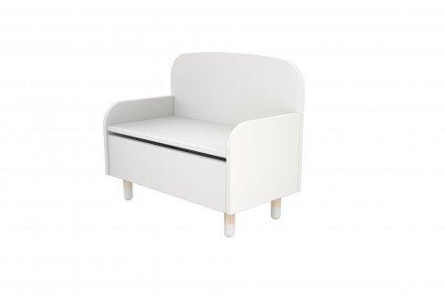 Wicki von Skandinavische Möbel - Kinderbank mit Truhe weiß