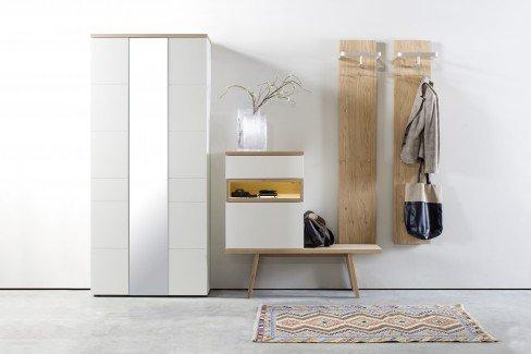 Fia von Skandinavische Möbel - Garderobe 04 in Weiß/ Ethno Eiche