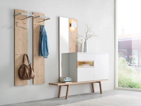 skandinavische m bel garderobe fia 10 eiche wei m bel letz ihr online shop. Black Bedroom Furniture Sets. Home Design Ideas