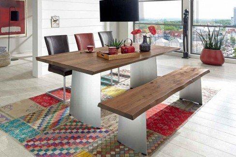 niehoff esstisch 3593 in der ausf hrung wild nussbaum. Black Bedroom Furniture Sets. Home Design Ideas