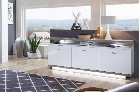 ideal m bel sideboard nuna wei eiche kronberg dunkel m bel letz ihr online shop. Black Bedroom Furniture Sets. Home Design Ideas
