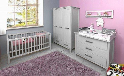 Welle sylt babyzimmer kiefer grau 5 teilig m bel letz ihr online shop - Welle babyzimmer ...