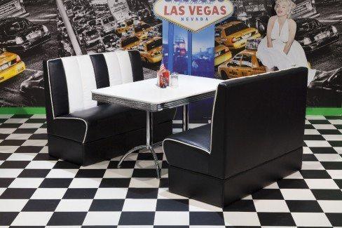 american diner esszimmer in schwarz wei von top form m bel letz ihr online shop. Black Bedroom Furniture Sets. Home Design Ideas