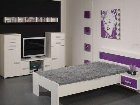 Change von Röhr-Bush - Bett mit Glasabsetzung Violett