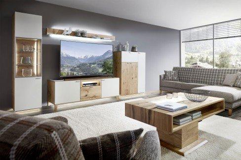 Kitzalm Living von Schröder - Wohnwand K008 mit Beleuchtung