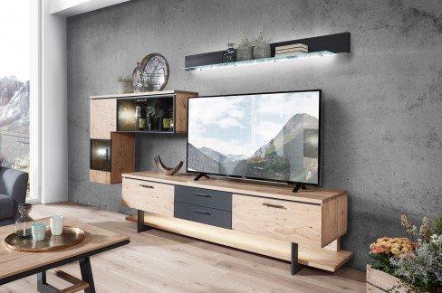 Kitzalm Premium von Schröder - Wohnwand K002 Wildasteiche