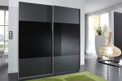 Enter von Wimex - Kleiderschrank mit Schwebetüren/ Glasauflage