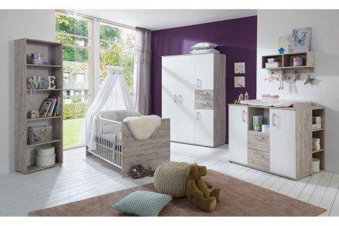 Bente von Arthur Berndt - Babyzimmer Sandeiche-Nachbildung/ weiß