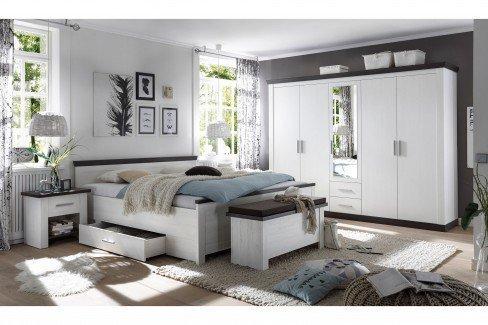 Siena von IMV Steinheim - Schlafzimmer-Set in Pinie Weiß