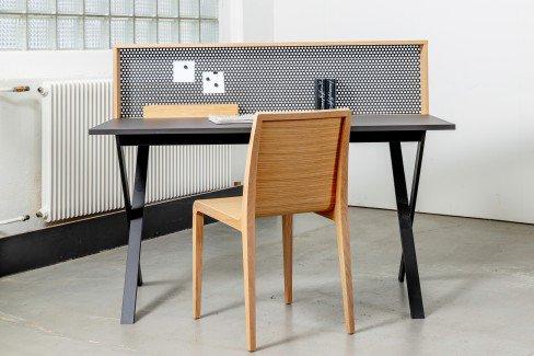 reinhard loft schreibtisch mit lochblech m bel letz ihr online shop. Black Bedroom Furniture Sets. Home Design Ideas