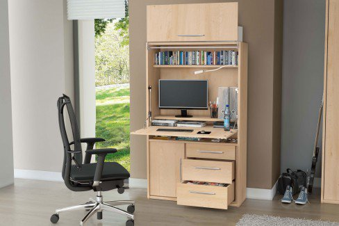 priess sekret r home office mit schwenkliftt r m bel letz ihr online shop. Black Bedroom Furniture Sets. Home Design Ideas