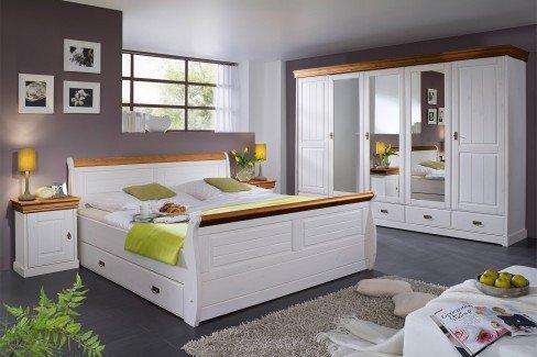 Lieblich Roma Von GK Möbelvertrieb   Komplett Schlafzimmer Weiß Honig