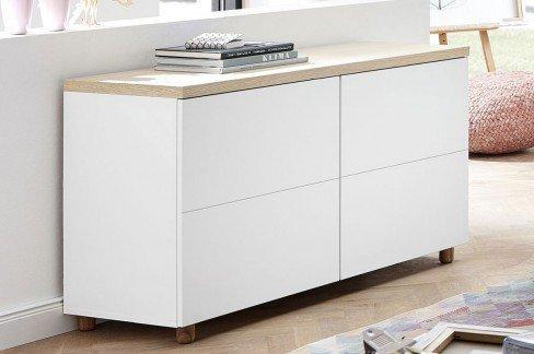 innostyle kommode redditch wei mit 2 holzt ren m bel letz ihr online shop. Black Bedroom Furniture Sets. Home Design Ideas