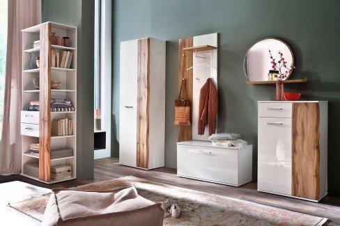Granada von MCA - Garderobenpaneel weiß/ Wotan Eiche