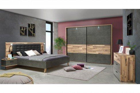 Ricciano von Forte - Schlafzimmer-Set: Schrank & Bettanlage