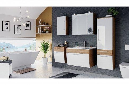 Salona von Posseik - Badezimmer in Eiche hell/ weiß