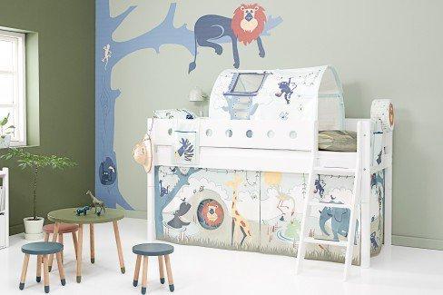 White von FLEXA - Bett mit Schubladen 90 x 200 cm