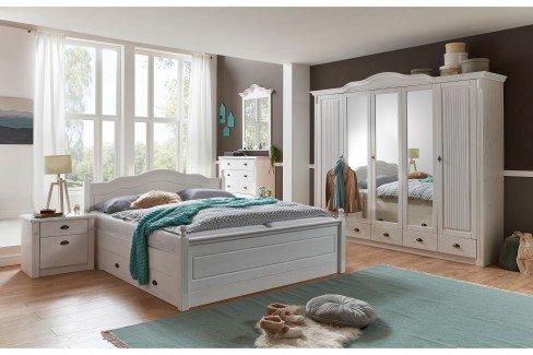 Romy von Pure Natur - Landhaus-Schlafzimmer Kiefer weiß