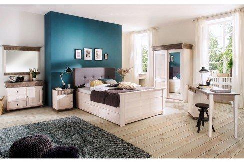 Helsinki von Euro Diffusion - Holz Schreibtisch Kiefer weiß