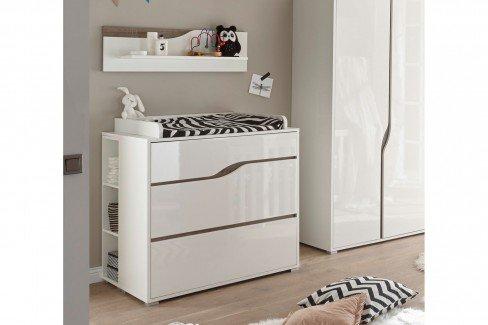 Mara von BEGABINO - Babyzimmer-Set 6-teilig weiß - Eiche
