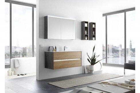 Solitaire 6010 von Pelipal - Badezimmer quarzgrau matt